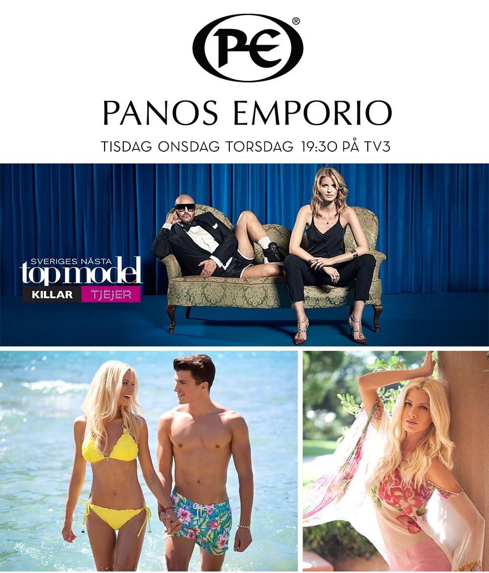 Panos Emporio i Top Model Sverige