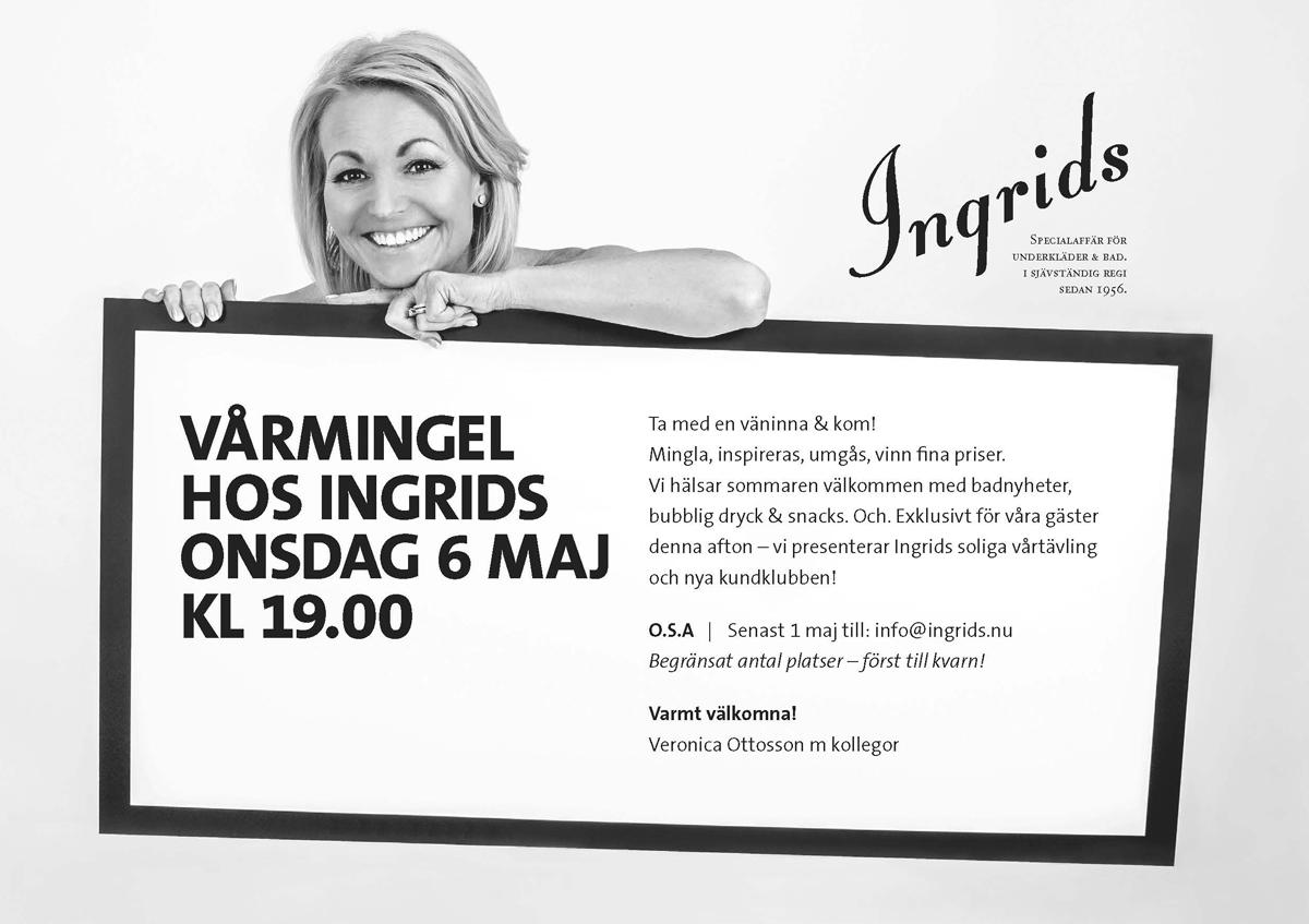 Inbjudan Kundkväll 6 maj Ingrids